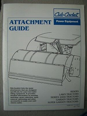 Vintage 1994 International Harvester IH Cub Cadet Attachment Guide