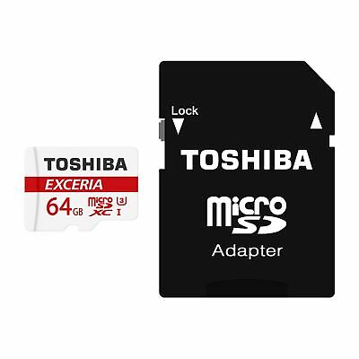 64GB SDXC TOSHIBA EXCERIA M302 UHS-III Micro SD Memory Card 90MBs with Adapter