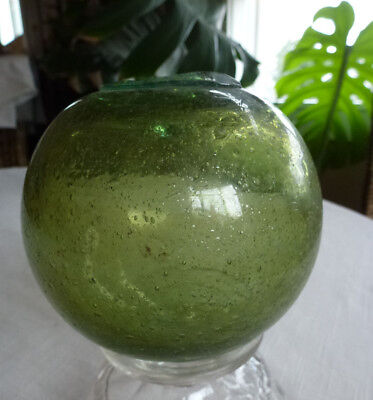 "Japanese Glass Fishing Float,  Bubbles, 4.17"" Diameter"