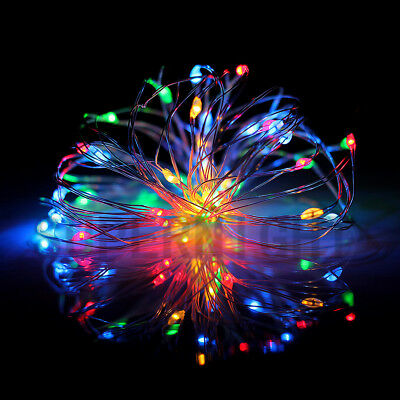 RGB 5M 50LEDs Copper Wire LED String Fairy Light with mini Remote Controller