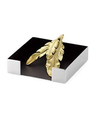 Michael Aram Gold Feather Cocktail Napkin Holder