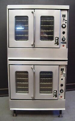 Commercial Double Stack Natural Gas Convection Oven Full Size Bakery Depth