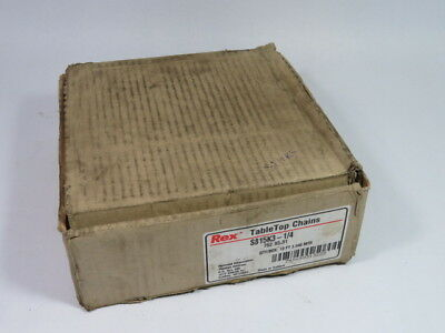 Rexnord S815-K3-1/4 Table Top Carbon Steel Chain 76 Links ! NEW !
