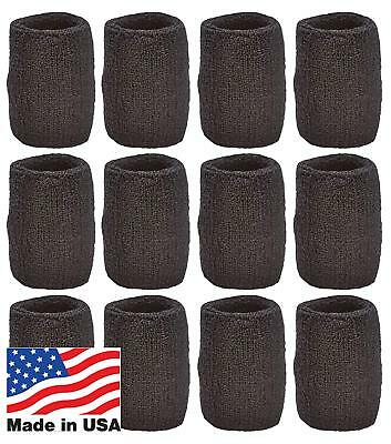 Unique Sports Team Wristbands (Black, 6 Pair), New, Free Shipping, New,Free Ship
