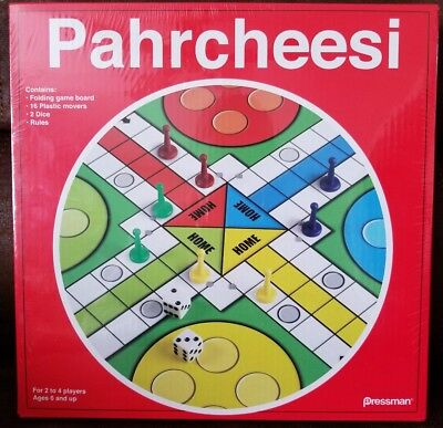 Toy Parcheesi in Box Classic Board Game Race to Home Ages 6 Up Red,
