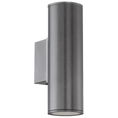 Eglo Riga 94103 Twin Led Outdoor Wall Light - Anthracite
