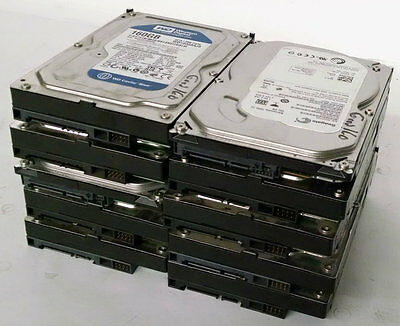 "Lot Of 10 Major Brand 160Gb Desktop Internal Sata Hard Drive 3.5"" Warranty"