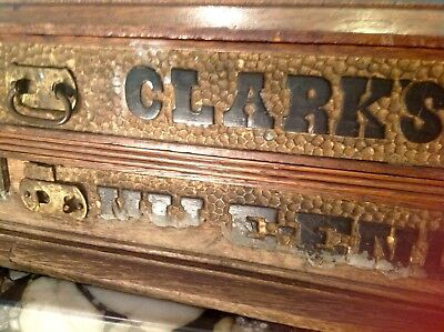 Antique Clark's Mile-End Thread Cabinet, American, 2 drawers, unrefinished