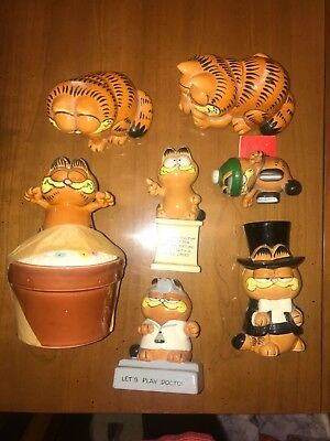 Garfield Enesco Ceramic Figurines- 7 Items