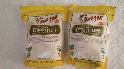 Bob's Red Mill Organic Coconut Flour, Paleo Keto DIET 16 Ounce (Pack of 2)
