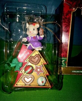 Traditions Season's Greeting Mouse on Box of Cookie, Cup Cake Christmas Ornament
