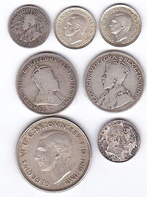 Australia, Great Britain, Canada Sterling silver coins.  Described below.