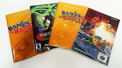 25 SNES / N64 Manual and Insert Bags       Crystal Clear   Super Nintendo 64 New
