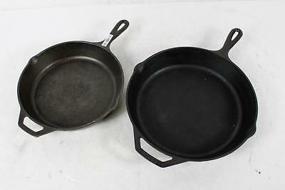 2-Piece Vintage Lodge Cast Iron Skillets 8Sk And 10Sk