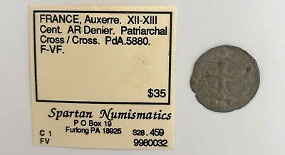 FRANCE, Auxerre. XII-XIII CENT. EX. KAYE FREDERICKS ESTATE NR