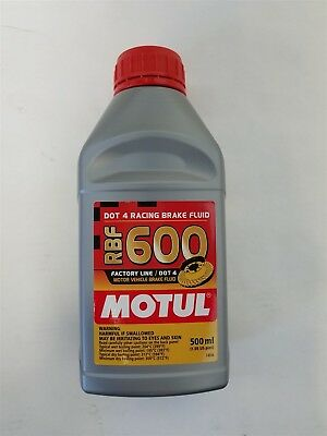 100949 Motul RBF600 FACTORY LINE Racing Brake Fluid (500ml, 16.9 fluid ounces)