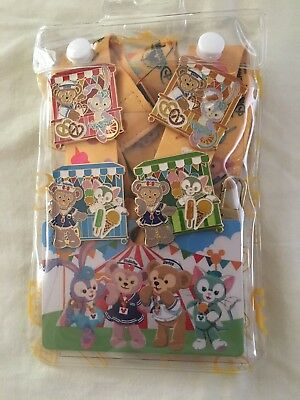 Hong Kong Disneyland HKDL Duffy Bear And Friends Pin Trading Set