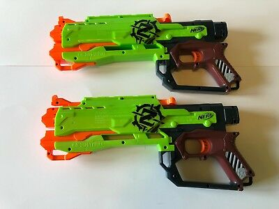 Lot of 2 Nerf Dart Guns Zombie Strike Crossbow *Body only * N-Strike Foam Toy