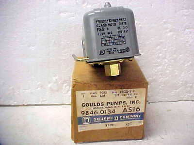Square D Gould Pumps FSG2-S19 Pressure Switch  Class 9013  9846-0134