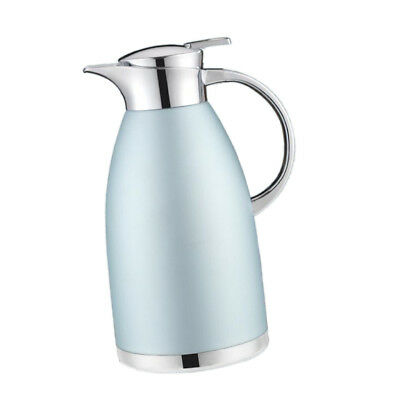 Double Stainless Steel Coffee Pot Vacuum Insulation Jug Kettle Blue1.8L