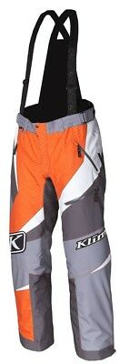 Klim 2018 Kaos Pant/Bib Snowmobile Bibs Orange Mens All Sizes