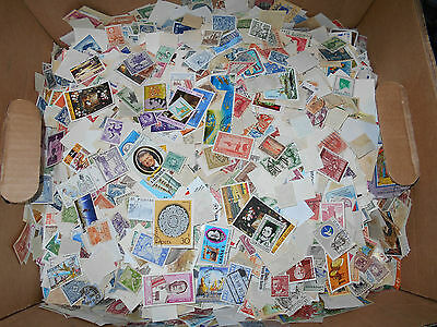 World wide foreign stamp mix - Five pounds off-paper - bulk lot - NEW LOW PRICE!