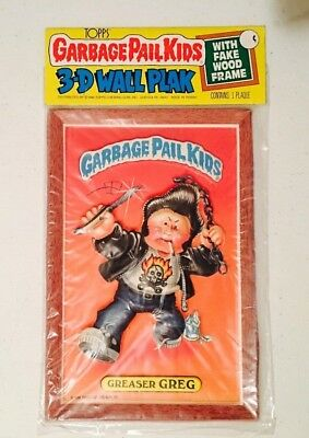 """1986 Vintage (Topps) """"GARBAGE PAIL KIDS"""" (Greaser Greg) """"3-D WALL PLAK"""" Plaque"""