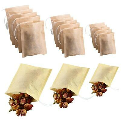 Natural Empty Teabags String Heat Seal Filter Paper Loose Tea Bag 100 Pack