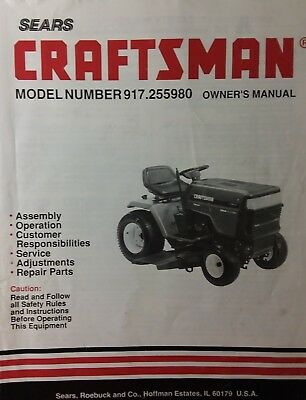 sears craftsman riding gt6000 lawn garden tractor owner part manual 917255980 - Sears Lawn And Garden