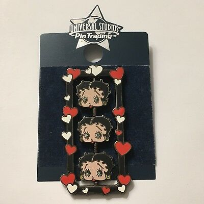 Betty Boop Head Spinner Universal Traders Pin Hearts