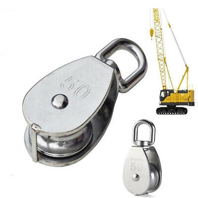 Stainless Steel Stainless Single Wheel Swivel Pulley Block Rigging Lifting Rope