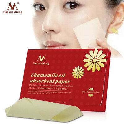 90Pcs Face Oil Blotting Paper Chamomile Oil-Absorbing Sheet Oil Control Tool