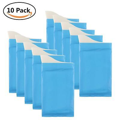 Pack Of 10 Disposable Urine Bags Camping Pee Travel Urinal Toilet For Men Women