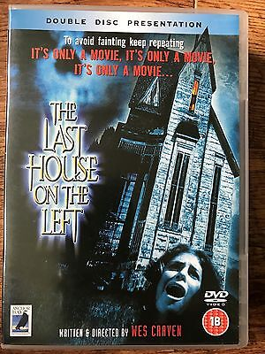 Last House On The Left ~ 1972 Wes Craven Horror Anchor Bay Gb DVD 2-disc