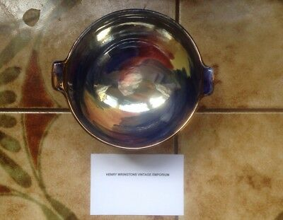 Maling Art Deco Lustre Storm Pattern Double Handle Footed Small Bowl