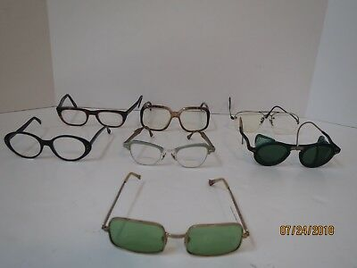 1-Lot Of 7 - Vintage Eye Glasses Different Types Fair To Avg Cond For Age/use