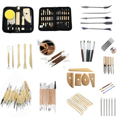 New Clay Sculpting Wax Carving Pottery Tools Shapers Polymer Modeling Ceramic US