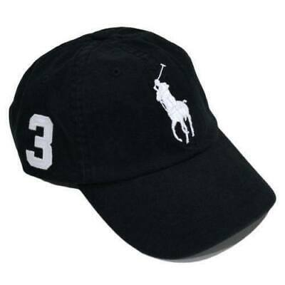 Ralph Lauren Polo Baseball Cap Navy Blue with White Big Pony Free Postage SALE