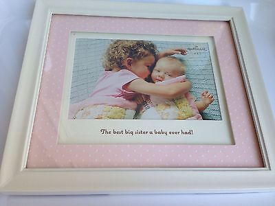 "Hallmark 4""x6"" BIG SISTER Painted Frame With Pink Dot Matte NEW IN BOX"