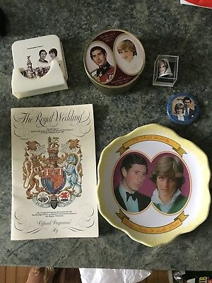 Charles and Diana wedding programme and memorabilia