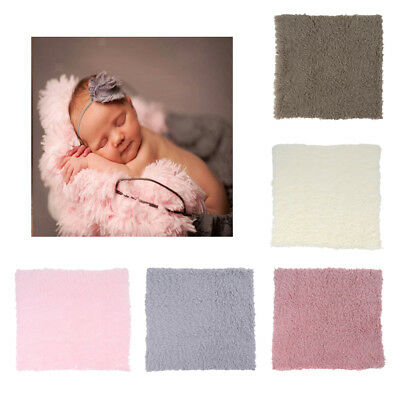 DIY Baby Photo Props Backdrop Newborn Photography Soft Fur Quilt Blanket Rug