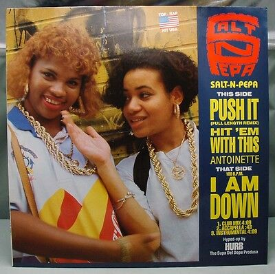 "12"" SP Salt-N-Pepa - Push It/Hit 'Em With This 1988 German Press"
