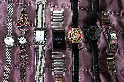 Battery operated 7 Ladies watches  job lot