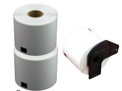 2+1 ROLLS DK11202 DK 11202 BROTHER COMPATIBLE SHIPPING NAME BADGE LABEL 62x100mm