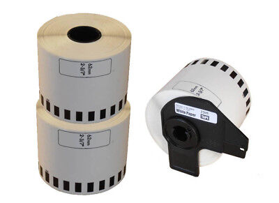 2+1 ROLL DK22205 DK 22205 BROTHER COMPATIBLE CONTINUOUS LABELS 62mm x 30.48m