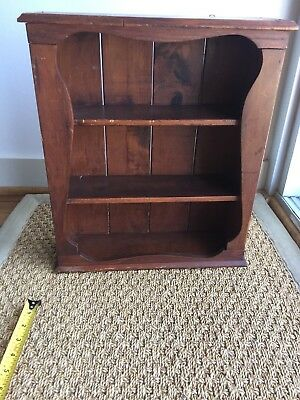 Antique Small French-style Wooden wall curio cabinet
