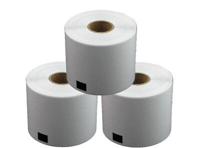 3 REFILL ROLLS DK11202 BROTHER COMPATIBLE SHIPPING LABELS 62x100mm DK 11202