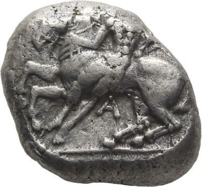 Lanz Greek Cilicia Kelenderis Goat Horse Youth Branch Stater Silver ±Tez647
