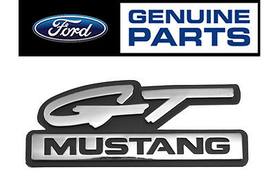 "1994-95 Mustang OEM Genuine Ford ""GT Mustang"" Chrome Fender Side Emblem"