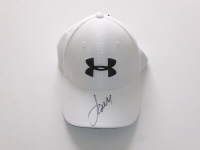 Jordan Spieth signed Under Armour golf cap from Carnoustie 2018. Proof. COA.